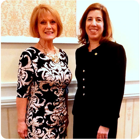 DCTMA Executive Director Cecile Charlton with Acting Secretary of Transportation Leslie Richards